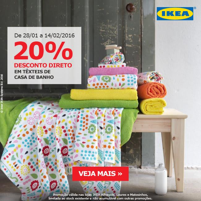 20% em vale IKEA em têxteis de casa de banho