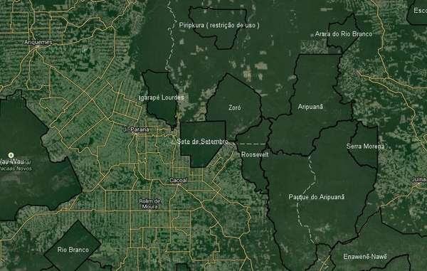 Les images satellite montrent que de vastes zones de l'Amazonie sont protégées par les territoires autochtones.