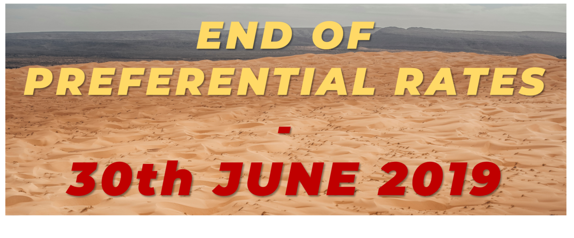 END OF PREFERENTIAL RATES