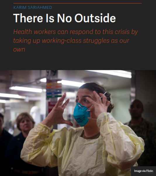 "Article photo and heading ""There is No Outside"""