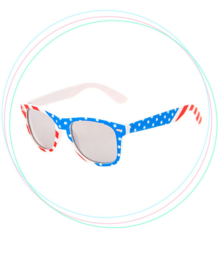 Stars and Stripes Round Sunglasses