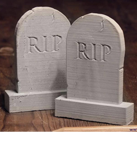 Mini Materials 1/12 Scale Concrete Tombstones (2 Pack)