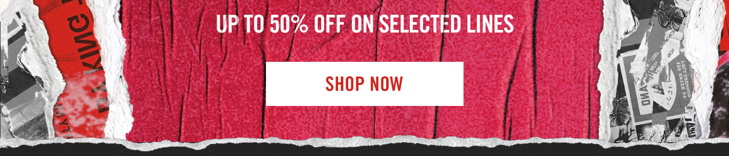 Up to 50% off on selected styles