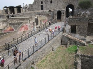 Normally_ guests to Pompeii use the uphill entrance covered in enormous cobblestones