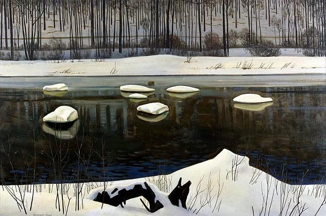 Река Сэйбл. Зима, 1960 (648x430, 366Kb)