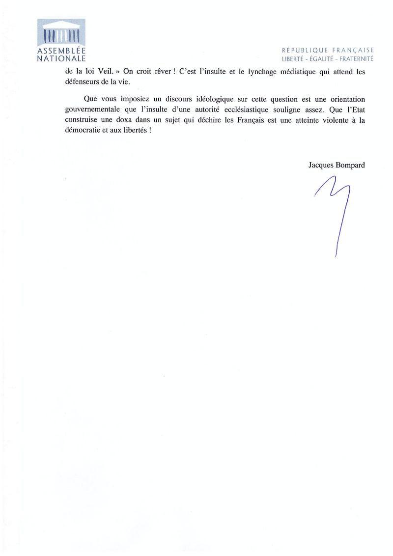 Lettre à Marisole Touraine 2