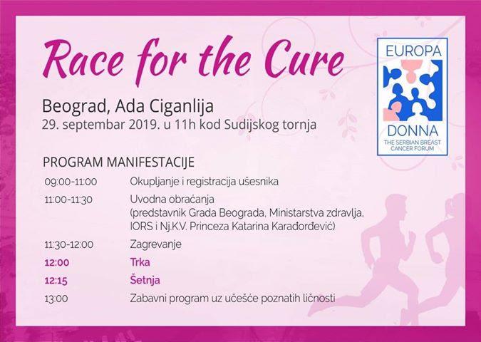 """Po prvi put u Srbiji """"Race for the cure – Trka za zdravlje"""" namenjena ženama i celom društvu u borbi protiv raka dojke"""