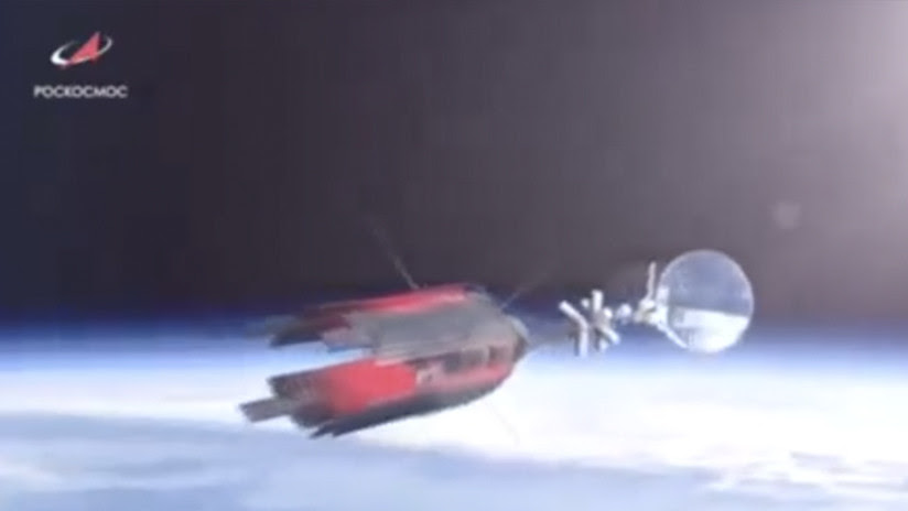 VIDEO: Rusia muestra una nueva nave espacial con planta de energía nuclear