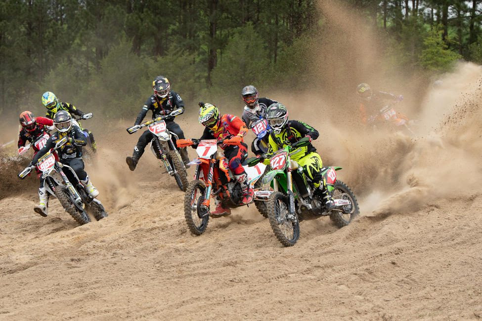 As the XC1 Open Pro class took it it was a race to the holeshot line.