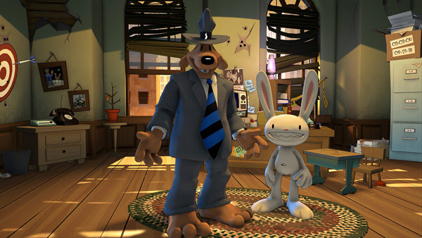 Sam & Max in their remastered office