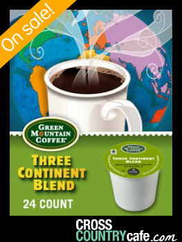 Three Continent Blend Keurig K-cup coffee