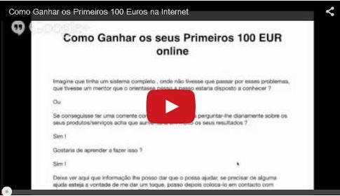 ganhar dinheiro 100 euros na internet
