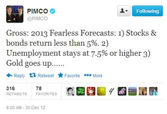 Bill Gross 2013 Prediction