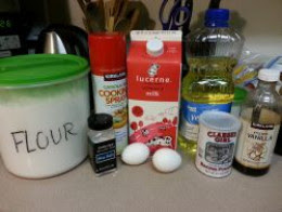 Ingredients for waffles.