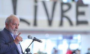 El expresidente Luiz Inácio Lula da Silva, en su primer discurso público tras la anulación de las sentencias- RICARDO STUCKERT/ INSTITUTO LULA.