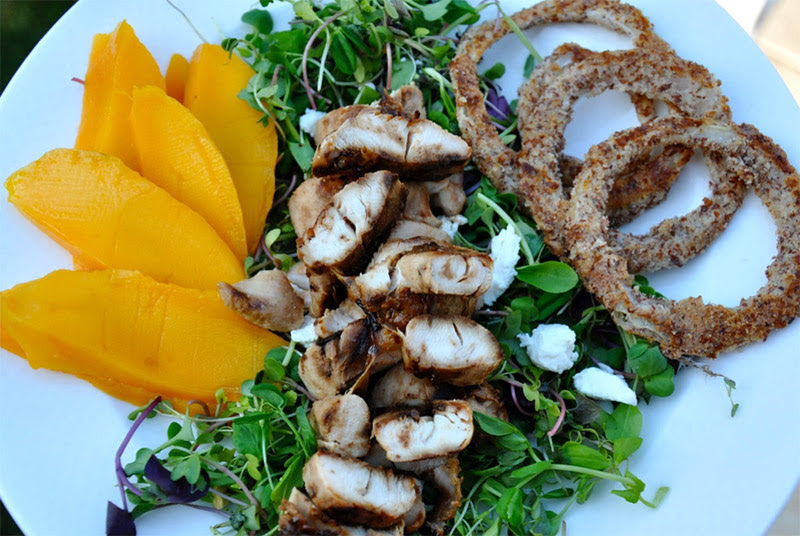 Tropical Salad with Teriyaki Chicken