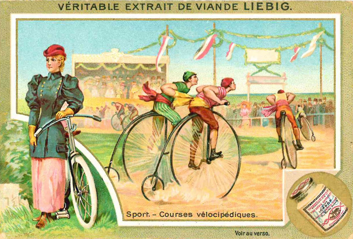 Corse velocipediste, 1896. Courtesy                               Comune di Modena, Museo della Figurina –                               Fondazione Modena Arti Visive