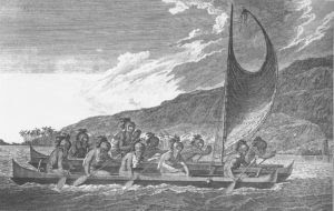 1024px Priests traveling across kealakekua bay for first contact rituals