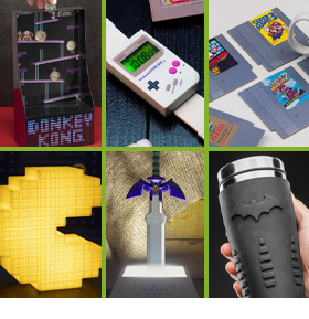 NINTENDO & DC COASTERS, LAMPS, BANKS, WATCHES & MORE!