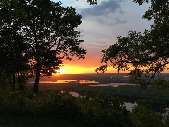 sunset over Wyalusing state park