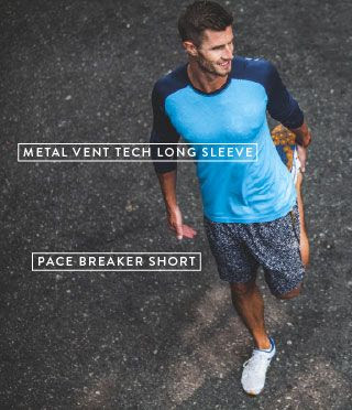 metal vent tech long sleeve and pace breaker short