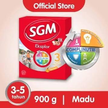 SMG/JOG/SOLO - SGM Eksplor 3 Plus Complinutri Madu Susu Bubuk [900 g]