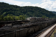 Rail cars containing coal in Williamson, W.Va. President Obama's Clean Power Plan would close hundreds of coal-fired power plants, but faces a challenge in the courts this week.