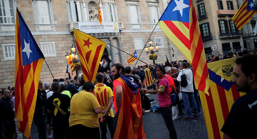 Las banderas independentistas de Cataluña
