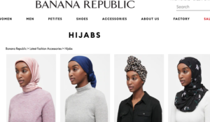 "Muslims enraged at Banana Republic over models in hijabs wearing clothes ""not in line with Islamic dress codes"""