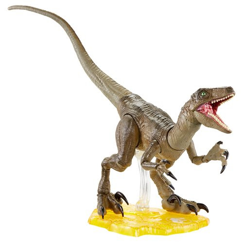 Image of Jurassic Park Velociraptor 6-Inch Scale Amber Series Action Figure