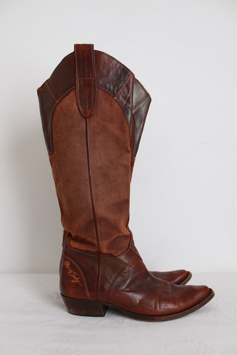 MISS SIXTY GENUINE LEATHER BOOTS - SIZE 7