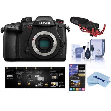 Lumix DC-GH5s Mirrorless Camera Body - With Shure VP83F LensHopper Camera-Mount Shotgun Mi