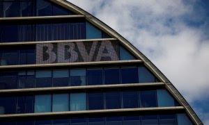 Imagen de la sede central del BBVA en Madrid.