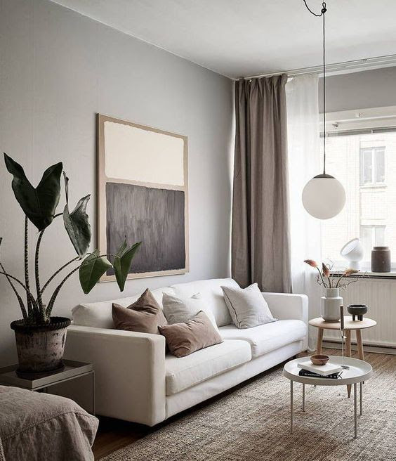 Minimal studio home - via Coco Lapine Design blog #livingroominspiration #modernlivingroom #homedecorideas