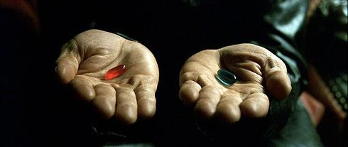 Matrix pilula azul e vermelha