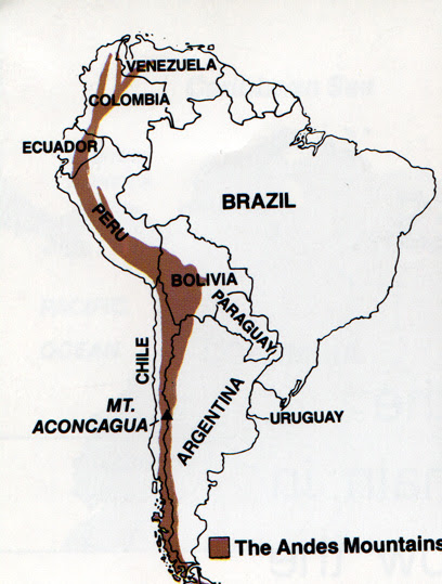 Image result for map andes