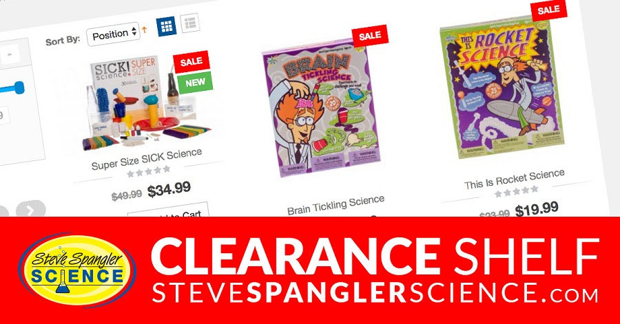 Steve`s Science Clearance Shelf