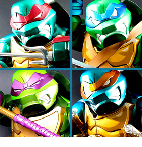 TMNT BULKYZ METALLIC LIMITED EDITION FIGURES