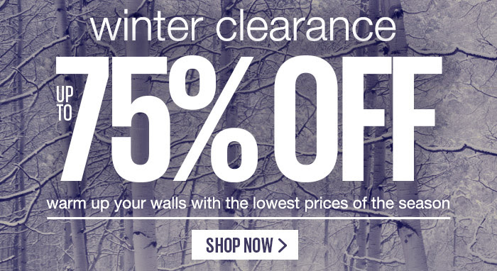 Save Up to 75% OFF Winter Clearance Sale + Free Shipping On Order Over $25 at Art.com