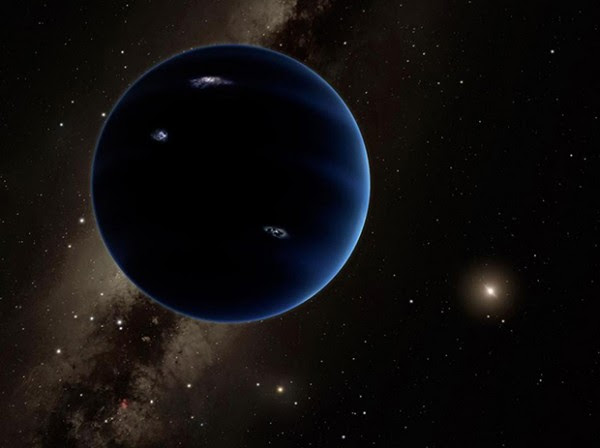 """The other current leading theory for Planet 9 is that it is actually a planet, about 10 times more massive than Earth, making it similar to """"super-Earths"""" found orbiting other stars. Image Credit: Caltech/R. Hurt (IPAC)"""