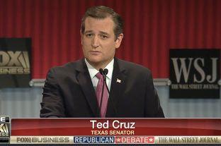 Sen. Ted Cruz at the Republican debate in Milwaukee, Wisconsin on Nov. 10, 2015.