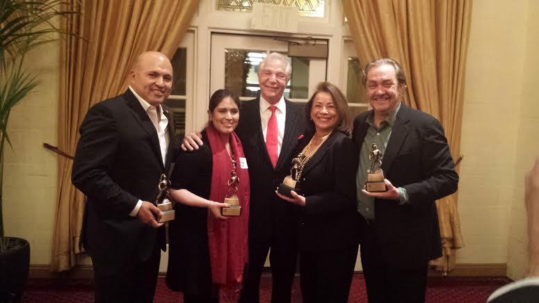 Raul Rodriguez, NHMC VP of Operations Brenda Rivas, NHMC President & CEO Alex Nogales, Alma Martinez, and Santiago Pozo