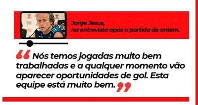 Entrevista de Jorge Jesus após a partida de ontem.