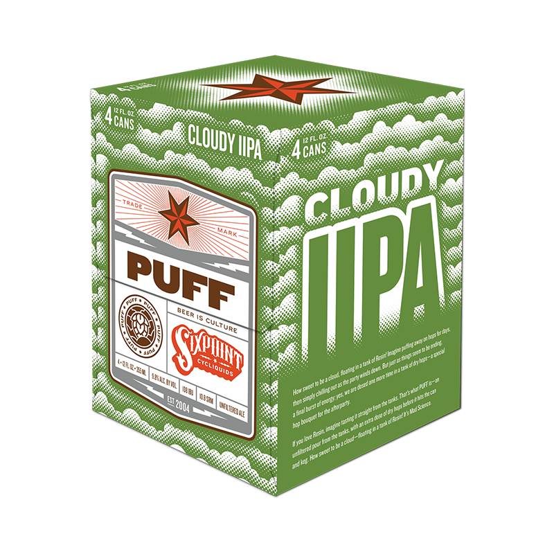 Puff Cloudy IIPA 4 Pack
