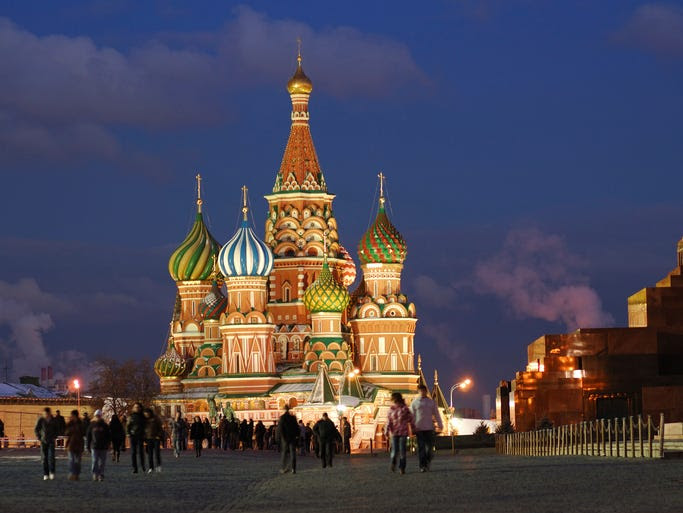 Located                                                           in Moscow's                                                           Red Square,                                                           the brightly                                                           colored spires                                                           and onion                                                           domes of St.                                                           Basil's have                                                           become one of                                                           the city's --                                                             and Russia's                                                           -- most iconic                                                           sights.