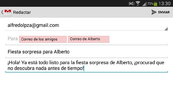 Cancelar correo electrónico enviado en Gmail desde Android