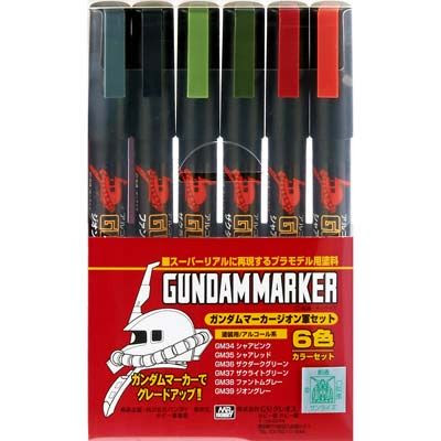 Image of GMA108 Gundam Marker Set - Zeon