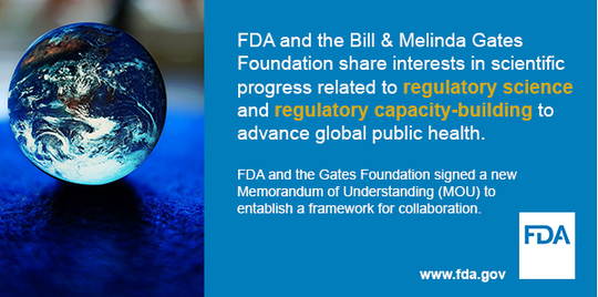 FDA and Gates Foundation launch a collaboration to improve global public health