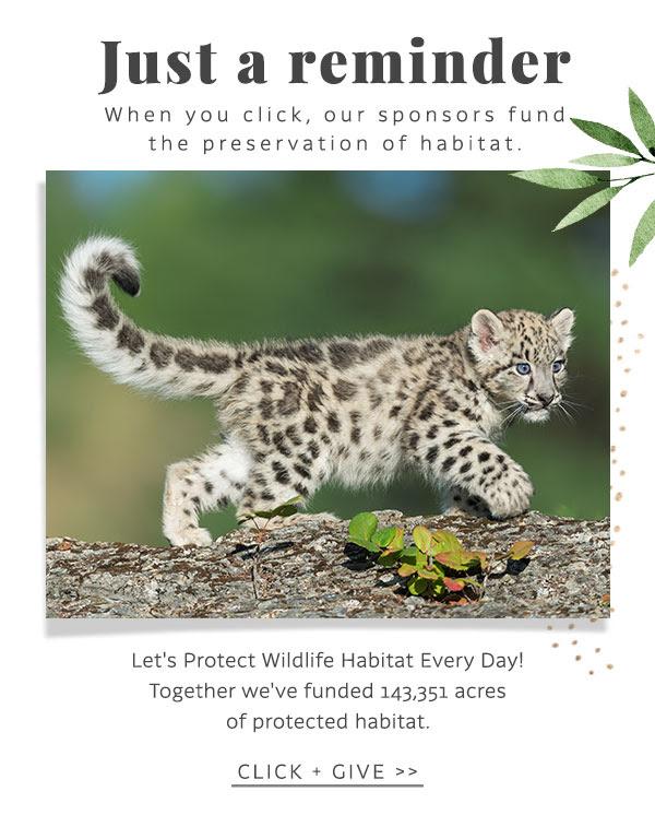Click Today & Protect Wildlife Habitat!