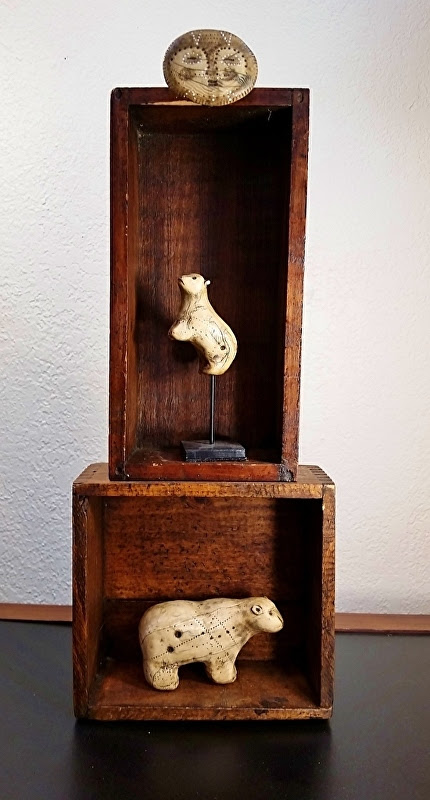 New antique box mini-shrines!